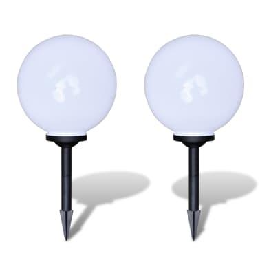 Zewnętrzne lampy solarne LED w kształcie kuli, 30 cm, 2 szt.[2/6]