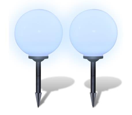 Zewnętrzne lampy solarne LED w kształcie kuli, 30 cm, 2 szt.[3/6]
