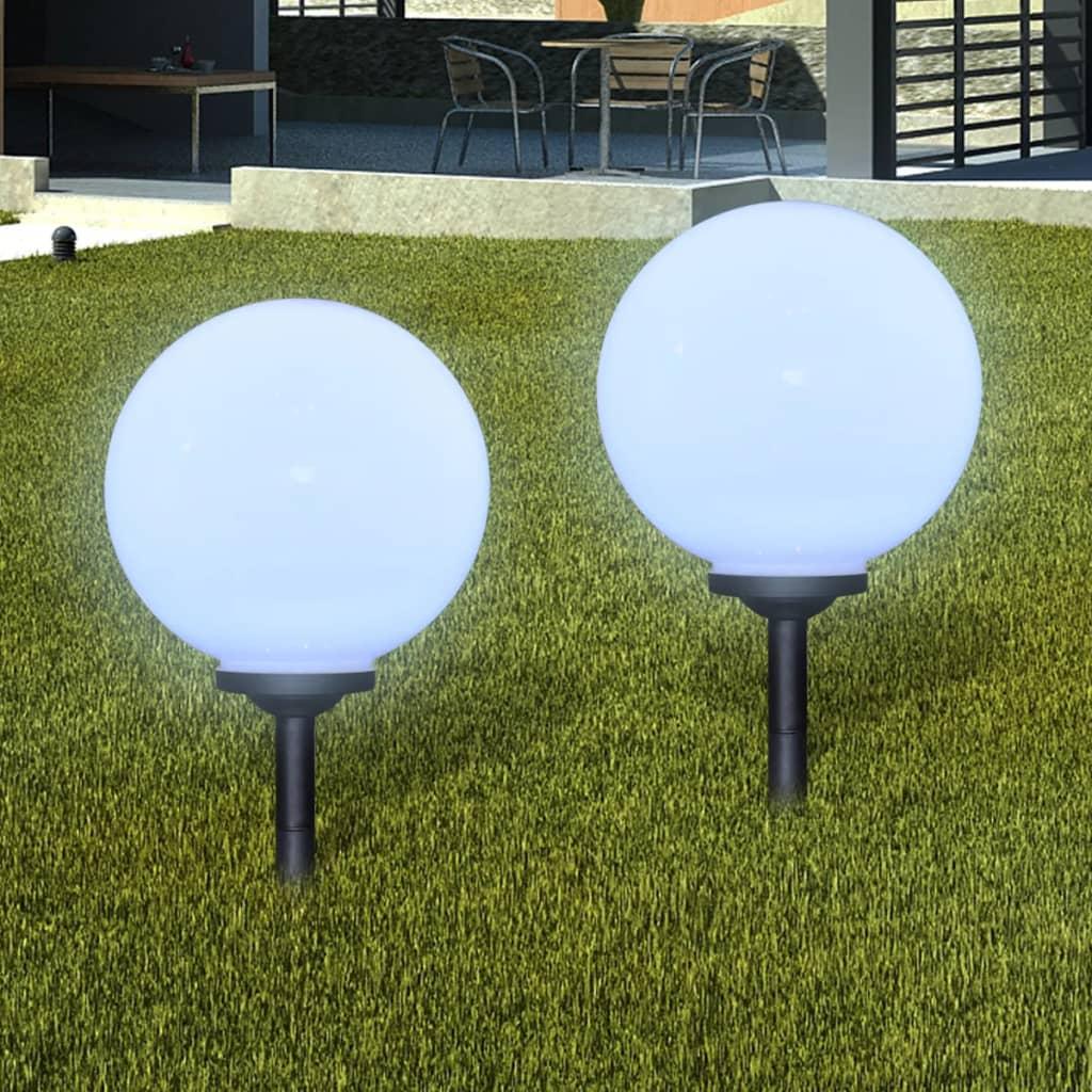 Buitenshuise tuinpad zonne-energie lampen (balvormige) LED 30cm (2 st)