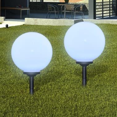 Utelampa LED solpanel 30 cm 2 st med markspikar[1/6]
