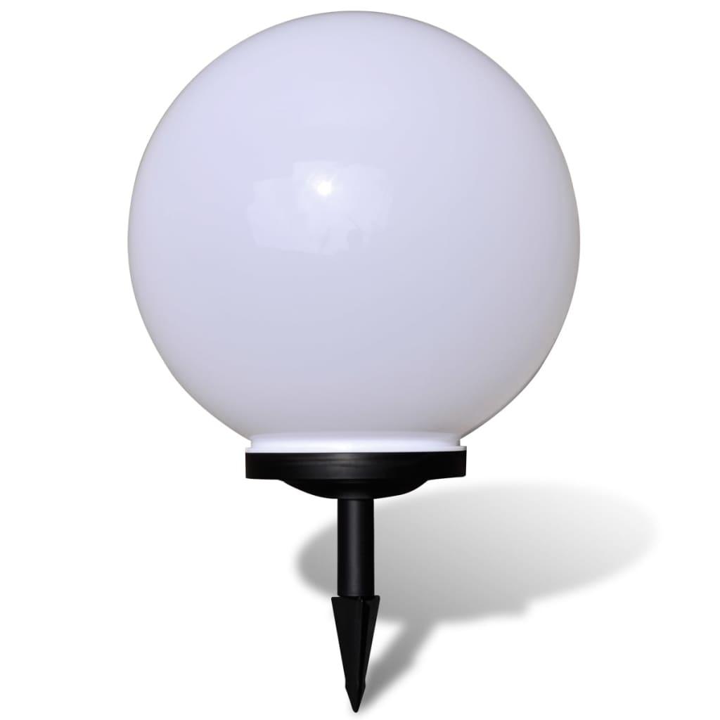 Zahradní solární LED zapichovací kulaté svítidlo - 40 cm - 1 ks