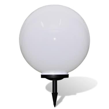 Градинска соларна LED лампа с клин за забиване, сфера, 50 см, 1 бр.[2/5]