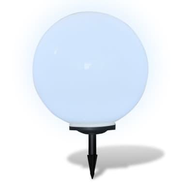 Градинска соларна LED лампа с клин за забиване, сфера, 50 см, 1 бр.[3/5]
