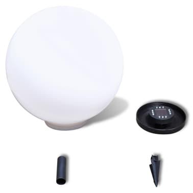 Градинска соларна LED лампа с клин за забиване, сфера, 50 см, 1 бр.[4/5]