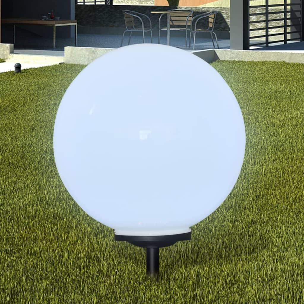 Zahradní lampa kulatá solární LED 50cm 1ks s hrotem