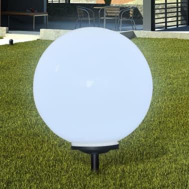 Градинска соларна LED лампа с клин за забиване, сфера, 50 см, 1 бр.[1/5]