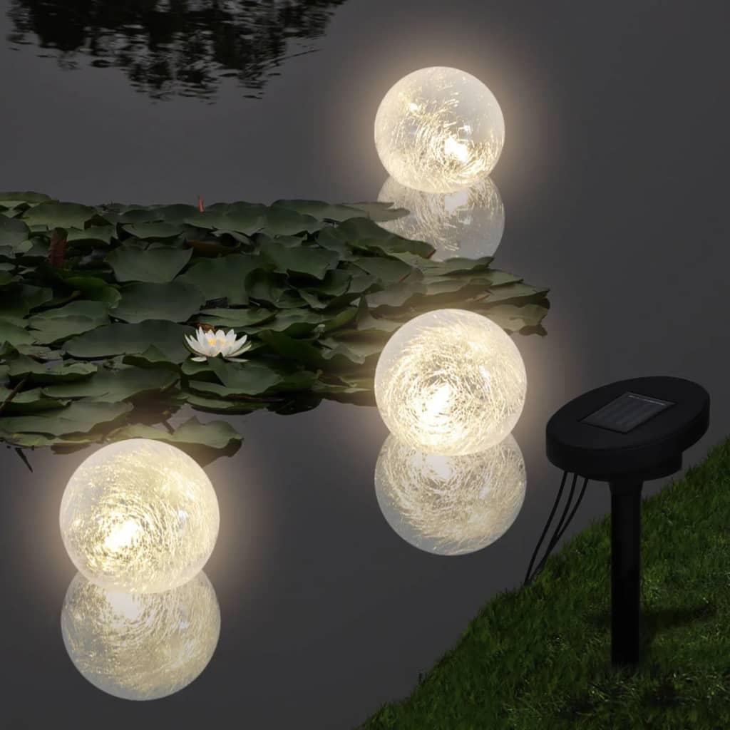 3 Zonne-energie LED drijvende bollampen voor vijver of zwembad