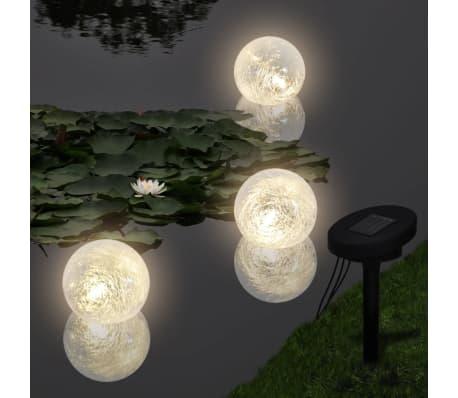 3 kpl Kelluva Aurinkovoima LED Pallovalo Lampeen tai Uima-altaaseen[1/6]