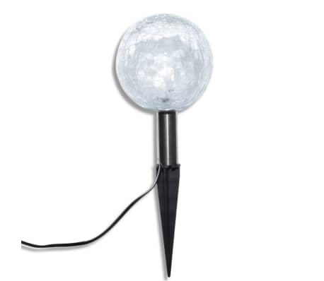vidaXL Solarkugel 3 LED Gartenleuchten mit Erdspießen & Solarmodul[5/7]