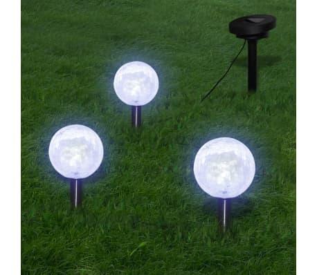 vidaXL Solarkugel 3 LED Gartenleuchten mit Erdspießen & Solarmodul[1/7]