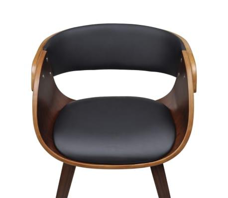 vidaXL Valgomojo kėdė su mediniu rėmu, ruda[3/5]