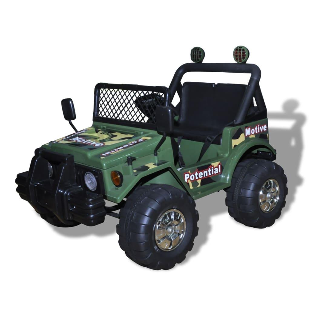 Masinuta Electrica Copii 2 Locuri Verde Army imagine vidaxl.ro