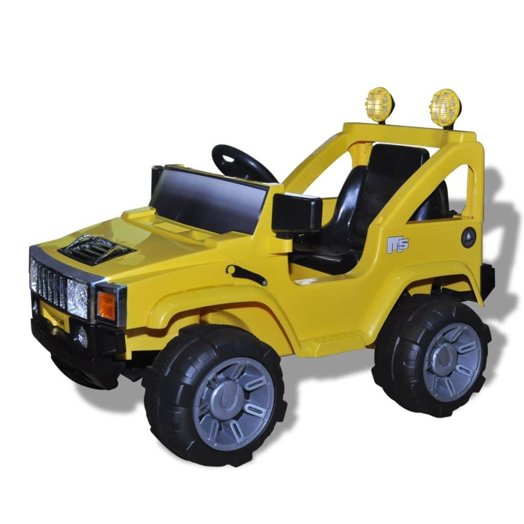 Elektrické dětské terenní auto se světly a zvuky - žluté