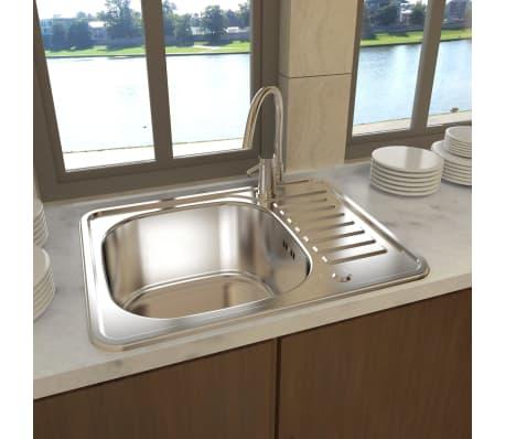 Lavello Lavandino cucina quadrato in acciaio inossidabile con ...