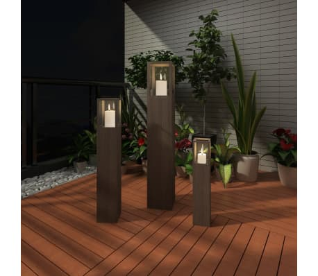 Garden Candle Stand Set 3 pcs Outdoor Lighting Torch Lantern[2/5]