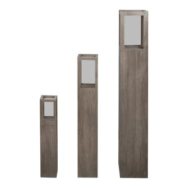 Garden Candle Stand Set 3 pcs Outdoor Lighting Torch Lantern[3/5]