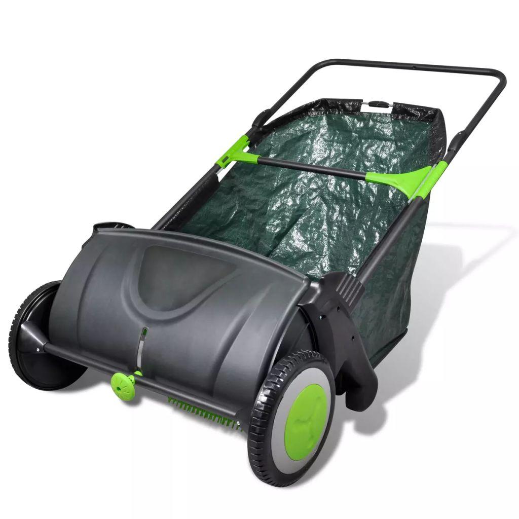 Strângător de iarbă cu sac detașabil 103L poza vidaxl.ro