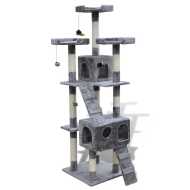 Cat Tree Cat Scratching Post 170 cm 2 Condos Grey[1/3]