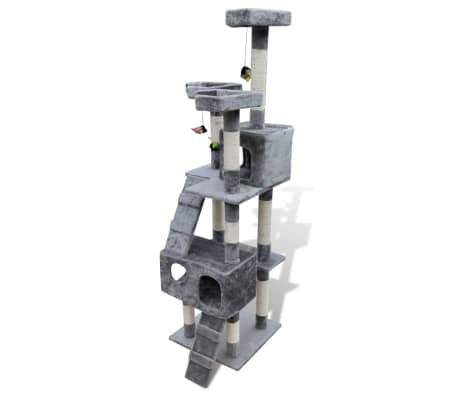 Cat Tree Cat Scratching Post 170 cm 2 Condos Grey[2/3]