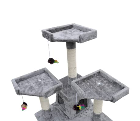 Cat Tree Cat Scratching Post 170 cm 2 Condos Grey[3/3]