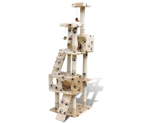 Kissan Raapimispuu 170 cm 2 Pesällä Keltainen Tassu-kuvio[2/3]