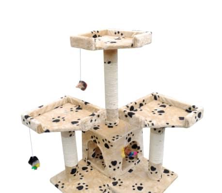 Kissan Raapimispuu 170 cm 2 Pesällä Keltainen Tassu-kuvio[3/3]