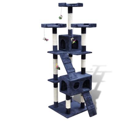 Drapak dla kota 170 cm, 2 domki, Niebieski[1/3]
