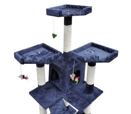 1f5a5ad636fd Δέντρο για Γάτα Στύλος Ξυσίματος 170 cm με 2 Σπιτάκια Μπλε Σκούρο 3 3