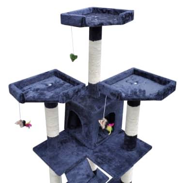 Drapak dla kota 170 cm, 2 domki, Niebieski[3/3]