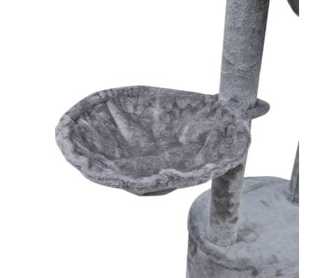 Kattenkrabpaal Tommie 220/240 cm 1 huisje (grijs)[5/5]