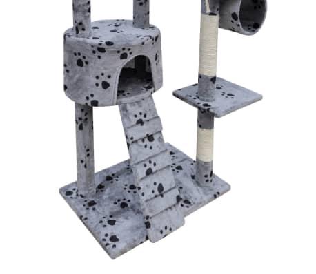 Mačje Drevo / Praskalnik 220 - 240 cm 1 Hišica Sive Barve s Tačkami[4/5]