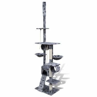 Cat Tree Cat Scratching Post 220 - 240 cm 1 Condo Grey with Pawprints[2/5]