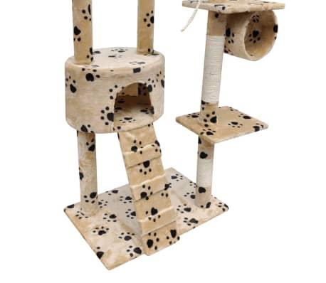 Kaķu māja ar stabiem nagu asināšanai 220-240cm,1 Mājiņ.Dzelt. pēdu rak[4/5]