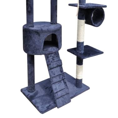 Mačje Drevo / Praskalnik 220 - 240 cm 1 Hišica Temno Modre Barve[4/5]
