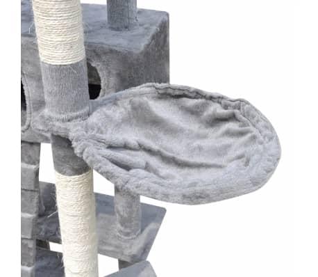 44c42058ac0c Δέντρο για Γάτα Στύλος Ξυσίματος 220 - 240 cm με 3 Σπιτάκια Γκρι 5
