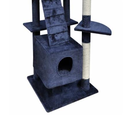 31232f37155f Δέντρο για Γάτα Στύλος Ξυσίματος 220 - 240cm με 3 Σπιτάκια Σκούρο Μπλε 4