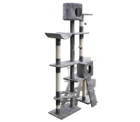 arbre chat en gris 175 cm2 niches. Black Bedroom Furniture Sets. Home Design Ideas