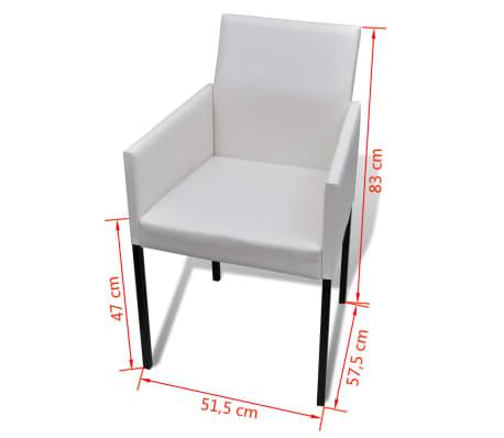 4x sedia poltroncina da pranzo design moderno in bianco for Sedia design pranzo