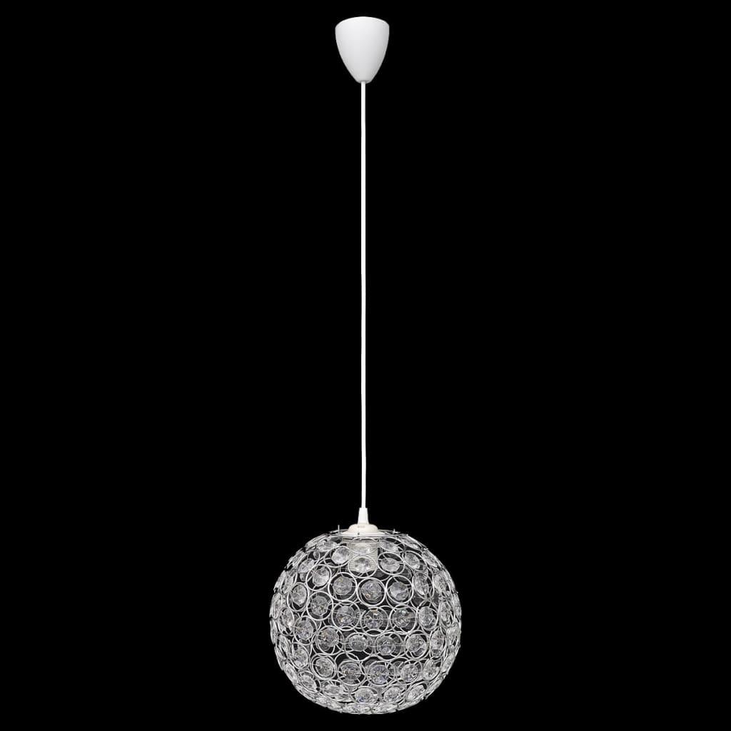 Lustră candelabru din cristal cu aspect de sferă poza vidaxl.ro