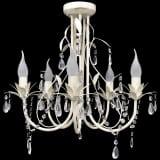 vidaXL Crystal Pendant Ceiling Lamp Chandelier Elegant 5 Bulb Sockets
