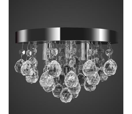 Лампа за таван с висящи кристали, хромирана[5/7]