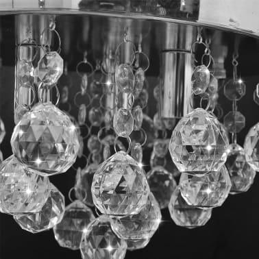 Lustre plafonnier contemporain cristal lampe chromé[4/7]