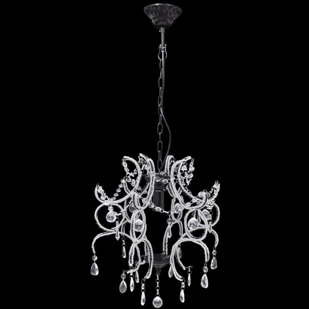 Závěsné svítidlo elegantní lustr s černým rámem