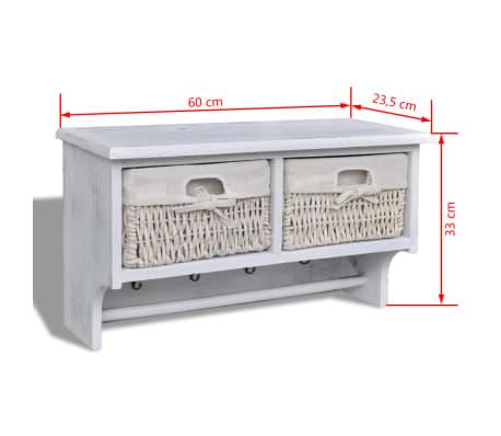 vidaxl wandregal wandgarderobe garderobe hutablage 2. Black Bedroom Furniture Sets. Home Design Ideas