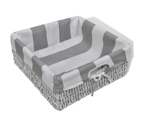 White Storage & Entryway Bench with Cushion Top 4 Basket[6/7]