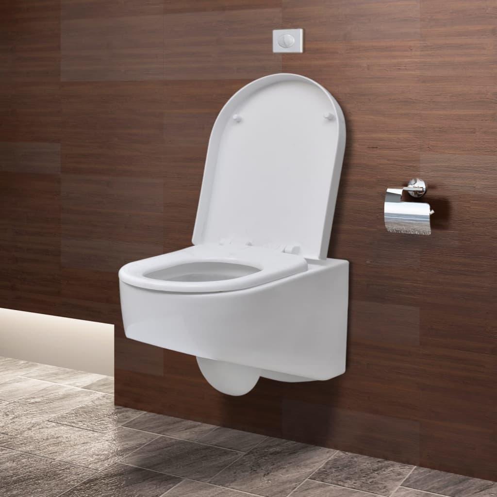 Bevorzugt Wand-hänge WC/ Toilette Design Weiß+Spülkasten   vidaXL.de MH47