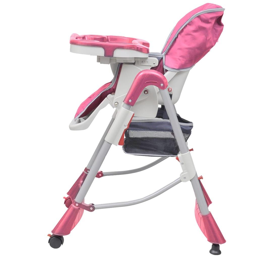 vidaXL Kinderstoel Deluxe in hoogte verstelbaar roze