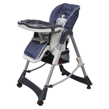 Baby High Chair Deluxe Dark Blue Height Adjustable[1/9]