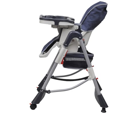 Baby High Chair Deluxe Dark Blue Height Adjustable[3/9]
