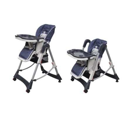 Baby High Chair Deluxe Dark Blue Height Adjustable[5/9]